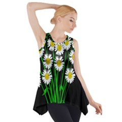 Bouquet Geese Flower Plant Blossom Side Drop Tank Tunic