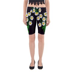 Bouquet Geese Flower Plant Blossom Yoga Cropped Leggings