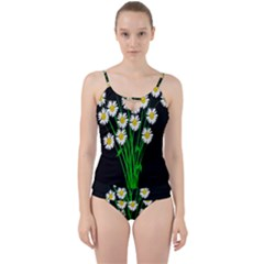 Bouquet Geese Flower Plant Blossom Cut Out Top Tankini Set