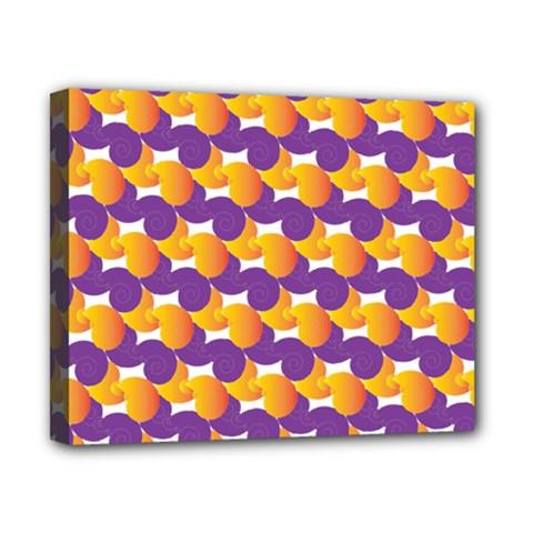 Pattern Background Purple Yellow Canvas 10  X 8