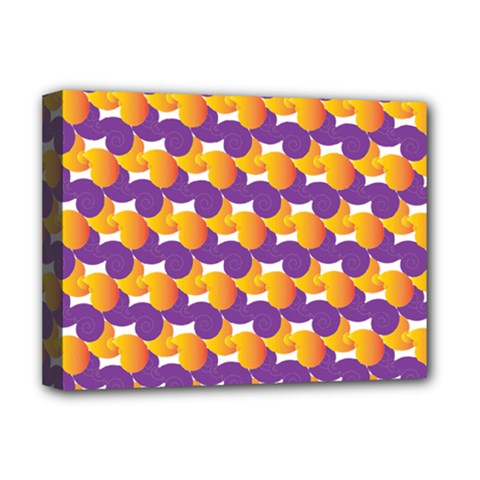 Pattern Background Purple Yellow Deluxe Canvas 16  X 12