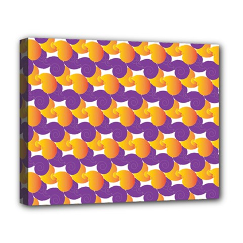 Pattern Background Purple Yellow Deluxe Canvas 20  X 16