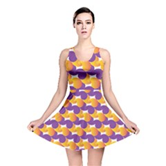 Pattern Background Purple Yellow Reversible Skater Dress
