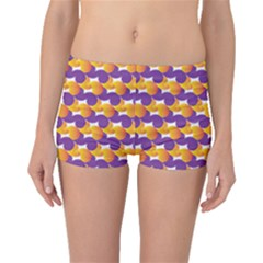 Pattern Background Purple Yellow Boyleg Bikini Bottoms