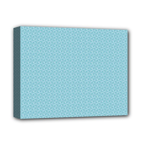 Blue Pattern Background Texture Deluxe Canvas 14  X 11
