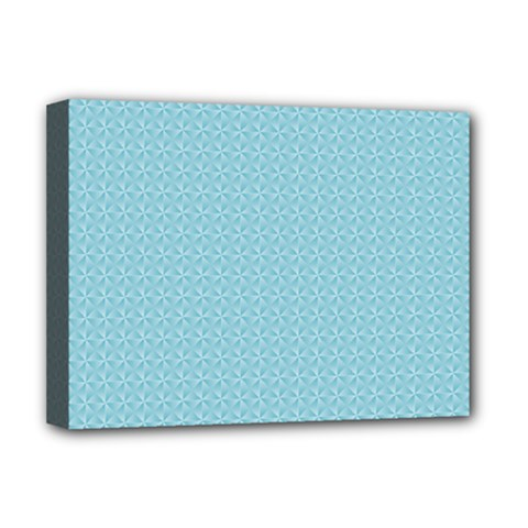 Blue Pattern Background Texture Deluxe Canvas 16  X 12