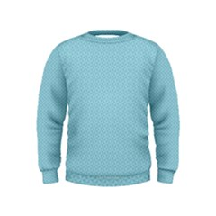 Blue Pattern Background Texture Kids  Sweatshirt