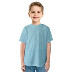 Blue Pattern Background Texture Kids  Sport Mesh Tee