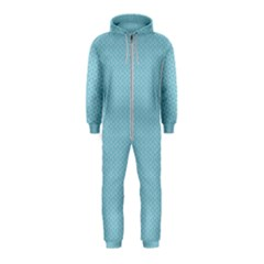 Blue Pattern Background Texture Hooded Jumpsuit (kids)
