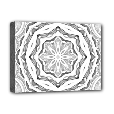 Mandala Pattern Floral Deluxe Canvas 16  X 12