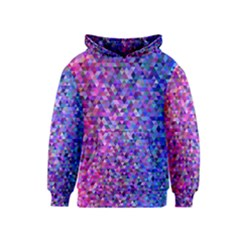 Triangle Tile Mosaic Pattern Kids  Pullover Hoodie