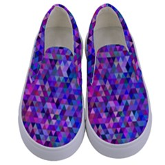 Triangle Tile Mosaic Pattern Kids  Canvas Slip Ons