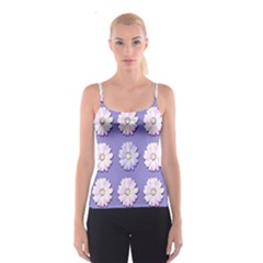 Daisy Flowers Wild Flowers Bloom Spaghetti Strap Top