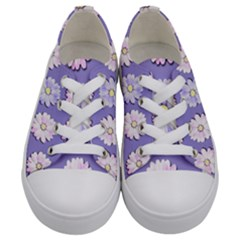 Daisy Flowers Wild Flowers Bloom Kids  Low Top Canvas Sneakers