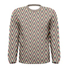 Chevron Retro Pattern Vintage Men s Long Sleeve Tee