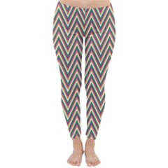 Chevron Retro Pattern Vintage Classic Winter Leggings