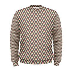 Chevron Retro Pattern Vintage Men s Sweatshirt