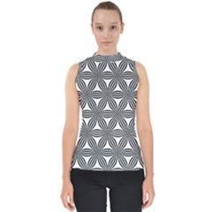 Seamless Pattern Repeat Line Shell Top