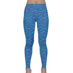 Monogram Blue Purple Background Classic Yoga Leggings