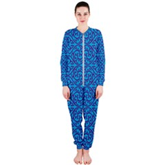 Monogram Blue Purple Background Onepiece Jumpsuit (ladies)