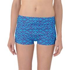 Monogram Blue Purple Background Boyleg Bikini Bottoms