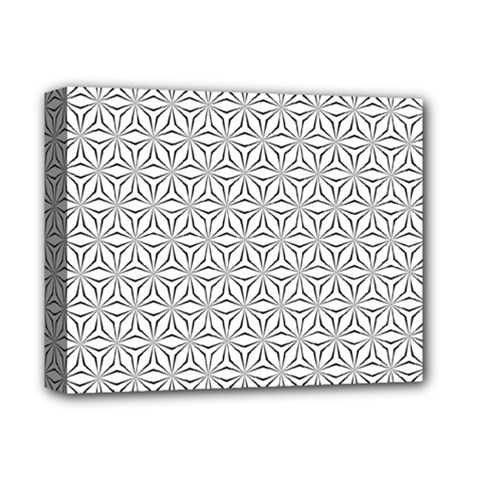 Seamless Pattern Monochrome Repeat Deluxe Canvas 14  X 11