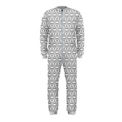 Seamless Pattern Monochrome Repeat Onepiece Jumpsuit (kids)
