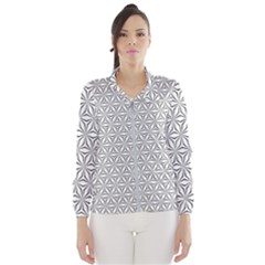 Seamless Pattern Monochrome Repeat Wind Breaker (women)