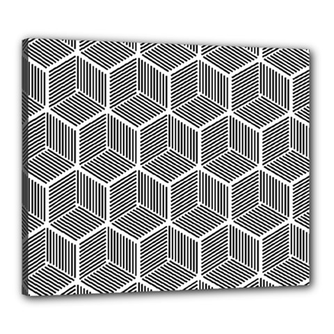 Cube Pattern Cube Seamless Repeat Canvas 24  X 20