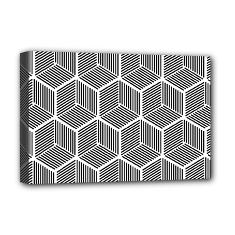 Cube Pattern Cube Seamless Repeat Deluxe Canvas 18  X 12