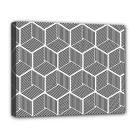 Cube Pattern Cube Seamless Repeat Deluxe Canvas 20  X 16