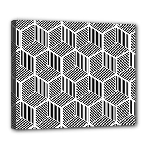 Cube Pattern Cube Seamless Repeat Deluxe Canvas 24  X 20