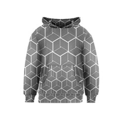 Cube Pattern Cube Seamless Repeat Kids  Pullover Hoodie