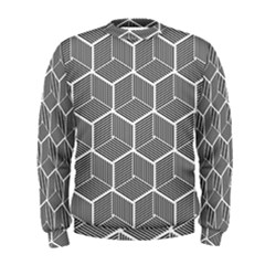 Cube Pattern Cube Seamless Repeat Men s Sweatshirt