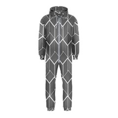 Cube Pattern Cube Seamless Repeat Hooded Jumpsuit (kids)