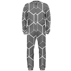 Cube Pattern Cube Seamless Repeat Onepiece Jumpsuit (men)