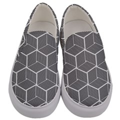 Cube Pattern Cube Seamless Repeat Men s Canvas Slip Ons