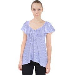 Zigzag Chevron Thin Pattern Lace Front Dolly Top