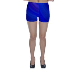 Blue Background Abstract Blue Skinny Shorts