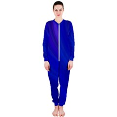 Blue Background Abstract Blue Onepiece Jumpsuit (ladies)