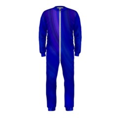 Blue Background Abstract Blue Onepiece Jumpsuit (kids)