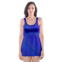 Blue Background Abstract Blue Skater Dress Swimsuit