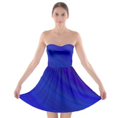Blue Background Abstract Blue Strapless Bra Top Dress
