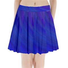 Blue Background Abstract Blue Pleated Mini Skirt