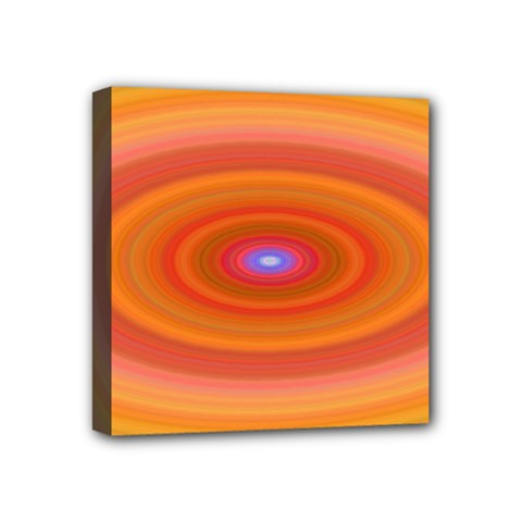 Ellipse Background Orange Oval Mini Canvas 4  X 4