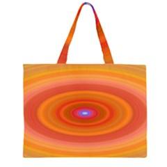 Ellipse Background Orange Oval Zipper Large Tote Bag