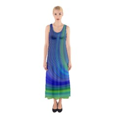 Space Design Abstract Sky Storm Sleeveless Maxi Dress