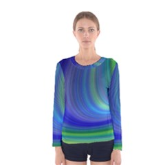 Space Design Abstract Sky Storm Women s Long Sleeve Tee