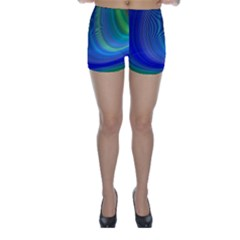 Space Design Abstract Sky Storm Skinny Shorts