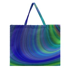Space Design Abstract Sky Storm Zipper Large Tote Bag